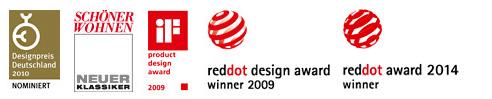 Auszeichnungen, reddot award, schöner wohnen, Designpreis Deutschland